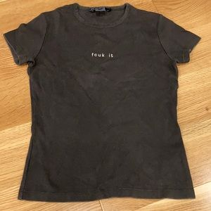 French Connection Black S/S Tee - Size S